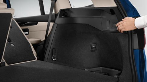 Discover electrically folding rear seat